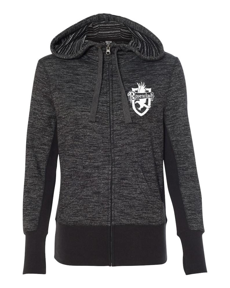 Ravenclaw Quidditch High Quality Super Soft Women Full Zip Hooded Sweatshirt Ravenclaw Women Full Zip Hoodie