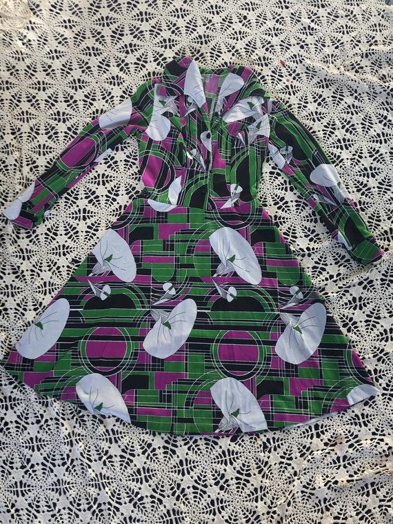 Vintage 1970's Art Deco dress