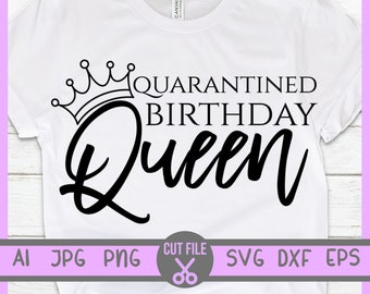 Birthday Queen Svg Etsy