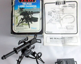 "ORIGINAL 4/"" Ion Cannon//Gun Vintage 1980 Imperial Attack Base Playset Star Wars"