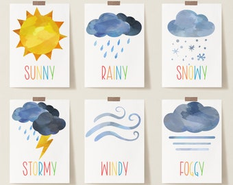 Weather chart   Etsy