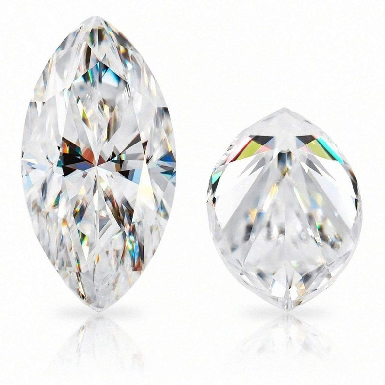 0.80CT White color 10 X 5 MM Moissanite Marquise Cut Gemstone Loose Brilliant Stone By Excellent Cut For Jewelry Making  Gift for herhim
