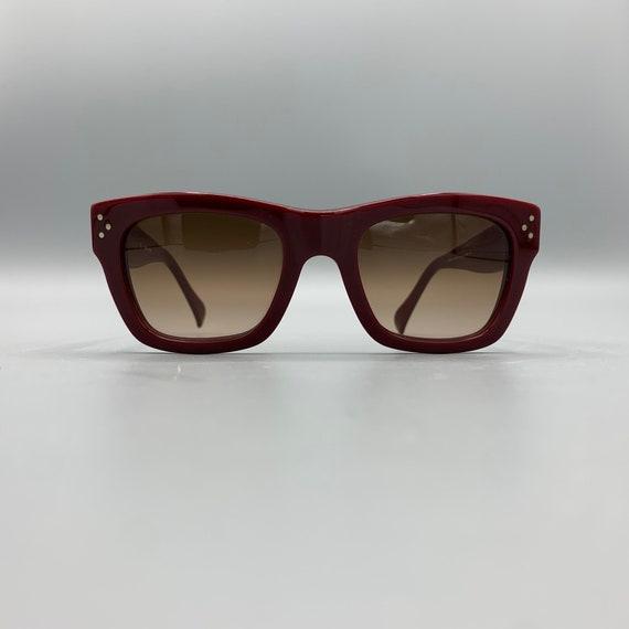 CELINE Square Burgundy Sunglasses