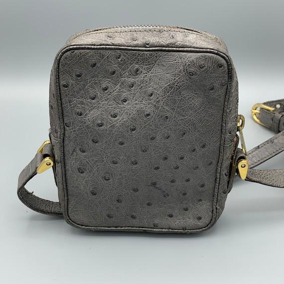 Ostrich leather crossover bag/camera bag