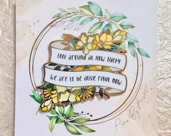 Alexander Hamilton Musical Inspired Quote Floral Hard Enamel Pins Broadway Eliza Disney