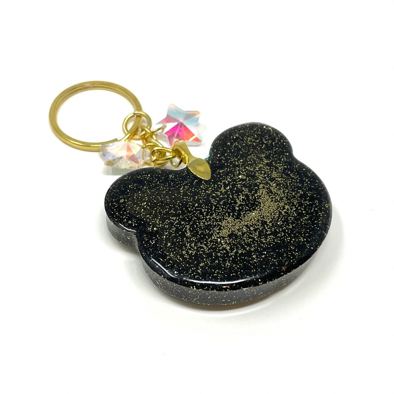 Resin Shaker Keychain Googly Eyed Gold Bear Shaker Keychain Handmade Gifts