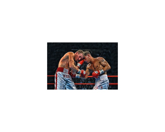 Floyd Mayweather vs Canelo Alvarez A4 Signed Autographed Print Photo Poster one