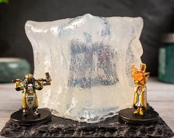 Gelatinous Cube Soap - Contains one random fully painted mini! - option for surprise dice inside - D&D TTRPG