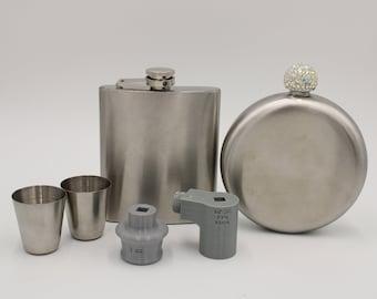 HOGG 7 Oz Flask Set  /  HOGG 8 Oz Diamond Flask / MakersFlo 6 oz Flask / Amazon Wristlet Flask / Cup Turner Adapter / Adapter ONLY