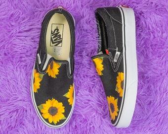 Sonnenblume Benutzerdefinierte handbemalt Vans klassische Slip auf Schuh (NEU) Trending jetzt