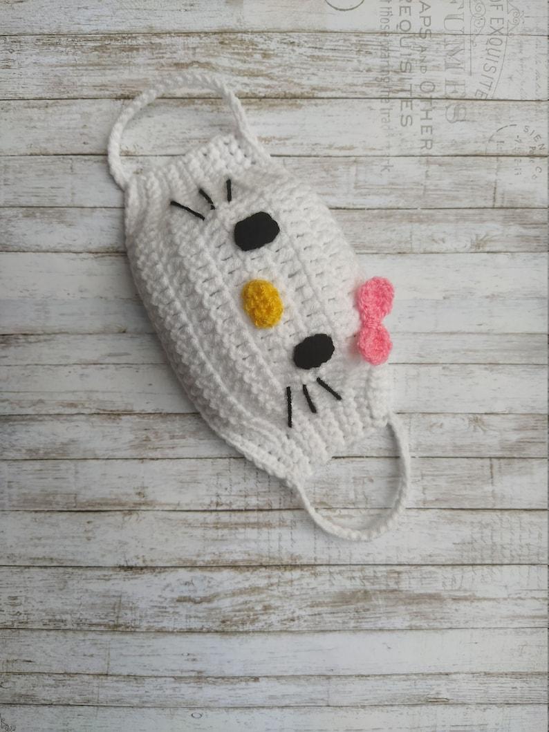 Máscara de crochê para crianças