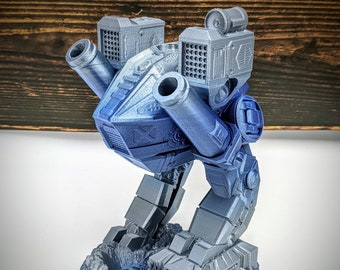 Battle Mech Dice Tower from Fates End Terra & Cosmos Dice Towers by Kimbolt Creations - available in 2 sizes (mini tower includes dice set)