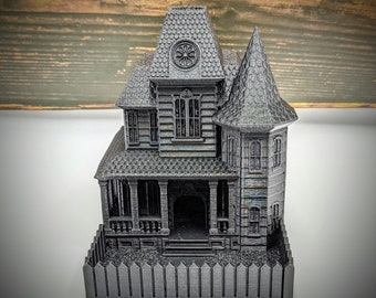 Haunted House Dice Tower from FatesEnd Terra & Cosmos by Kimbolt Creations - Available in 2 Sizes - Dungeons and Dragons, Pathfinder, TTRPG