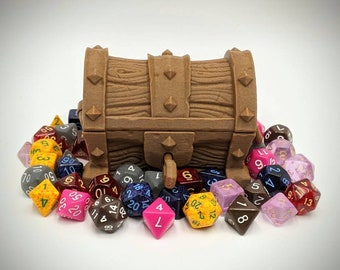 Locking Dungeon Chest Dice Container from Makers Anvil Studio - Dungeons and Dragons, Tabletop Gaming, Pathfinder, Role Playing,