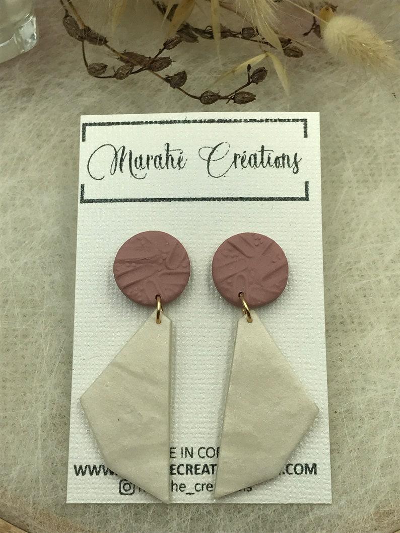 Polymer paste earrings