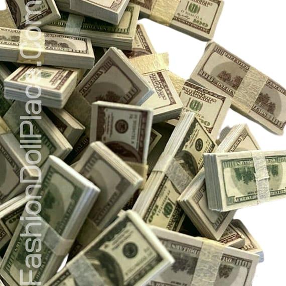 100 Sheets//set Mini Dollar 1:12 Dollhouse Miniature Life Money Us $100 Bankno/_JO
