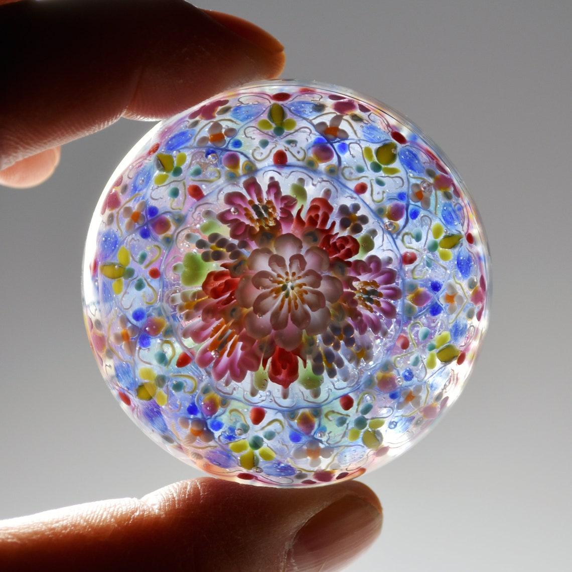 Tomomi HANDAs glass marble Java sparrow   Etsy