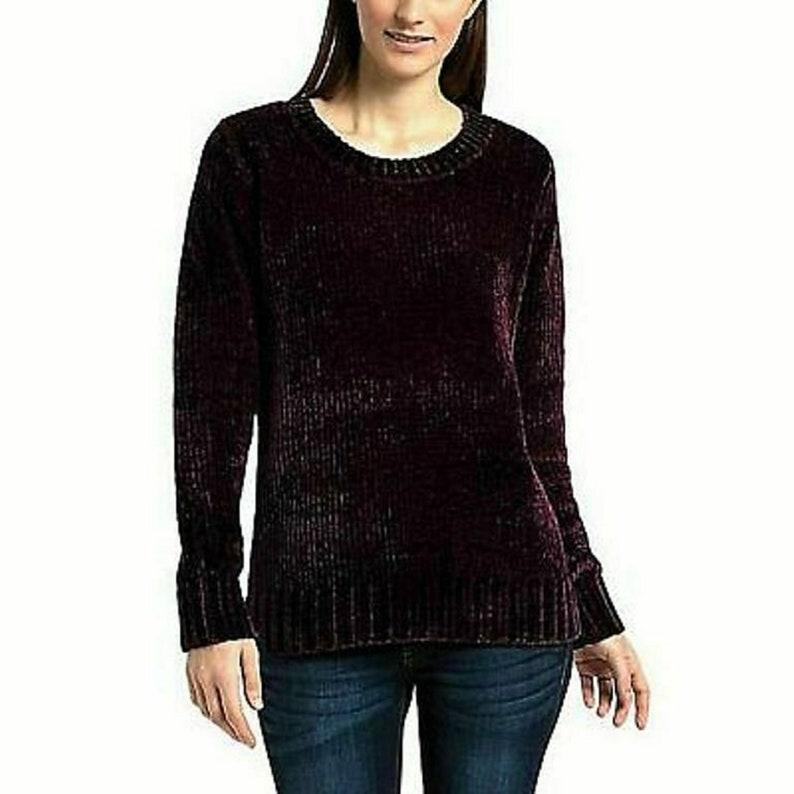 Orvis Ladies Chenille Sweater XL Plum
