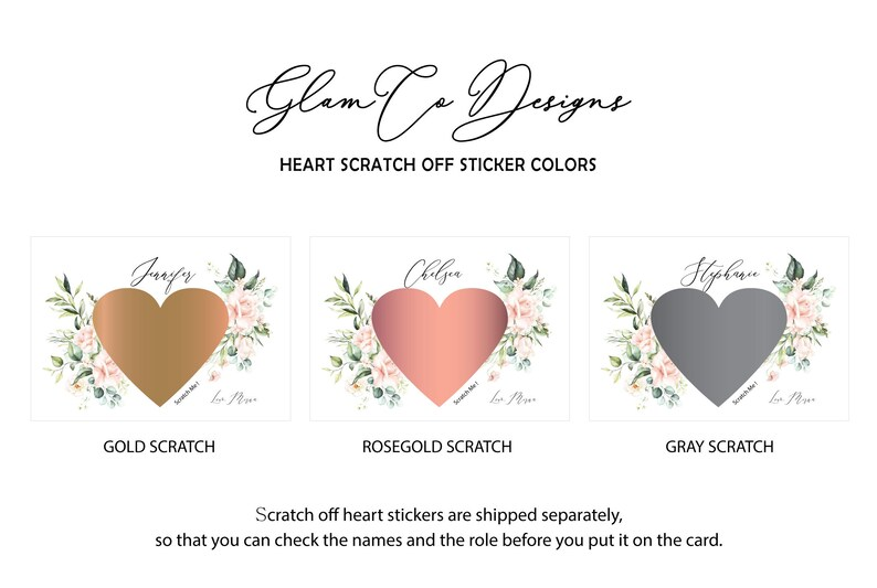 Gift Box Idea P005 Bridesmaid Proposal Card Maid of Honor Ask Card Blush Pink Wedding Will You Be My Bridesmaid Scratch Off Card