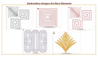 Machine embroidery designs - Art Deco Elements and Borders