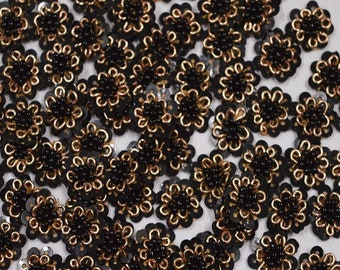 50 Appliques in golden Rhinestone Appliques Rhinestone Embroidery Applique Beaded Bridal Appliques Headband Appliques Indian wholesale patch