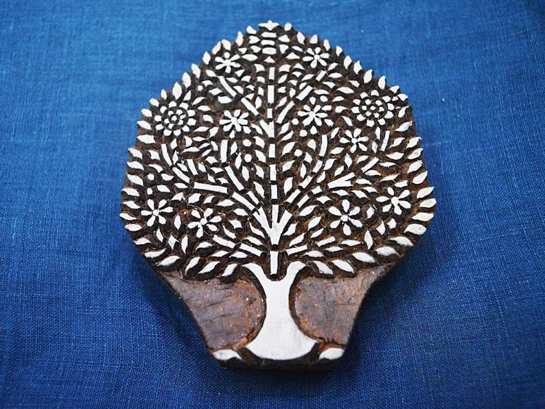 Decorative Blocks Indian Wood Block Printing Stamps Floral Wooden Printing Block Hand craved Textile Printing Stamp Christmas wooden blocks