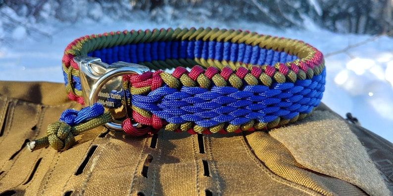 Braid Dog Collar Custom Nylon Rope Dog Collar Thick Heavy Duty Dog Collar Wide Paracord Dog Collar Woven Personalized Medium Large Dog