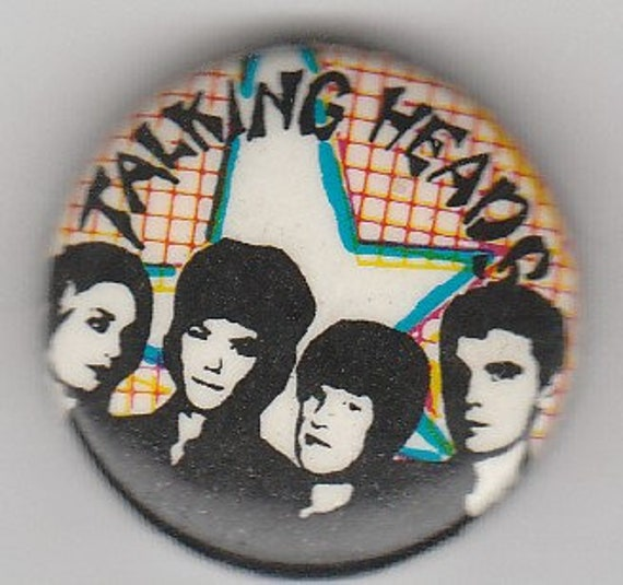 """Talking Heads - 1"""" metal pin-on buttons"""