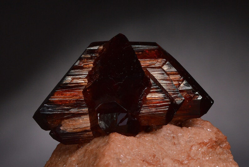 Arcanite crystals matrix Apus orange cluster like wulfenite crocoite brookite