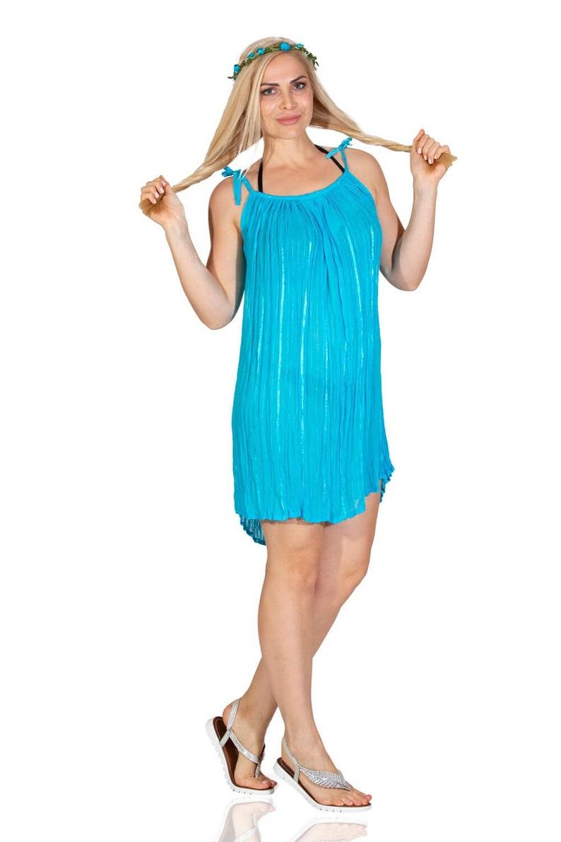 Gauze mini dress Summer dress Cotton gauze Gauze dress Woven cotton dress Tunic dress Thin straps Beach dress Plus size dress