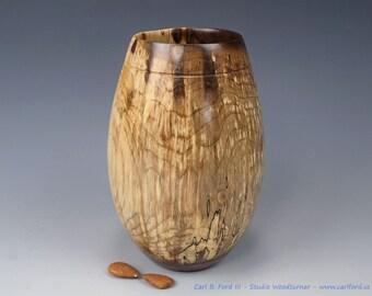Spalted Walnut Vase - Hand Turned Wood Art