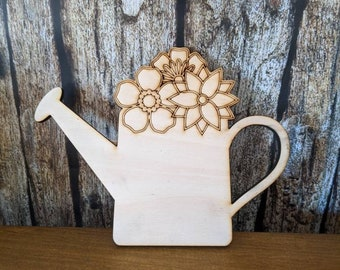 Wood Watering Can Etsy