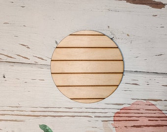 Unfinished Wood 7 inch Round Circle Plaque with 3//4-in Thick Decorative Edge