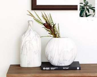Tall Marble Vase Etsy