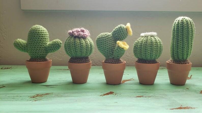 Crochet Tall Cactus