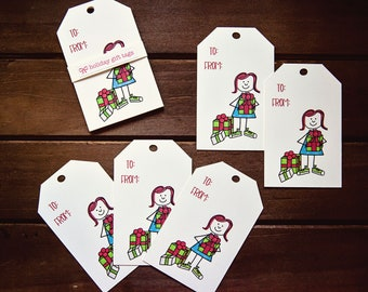 Holiday Gift Tags - All the Presents - Set of 5 | Christmas Gift Tags | Holiday Favour Tags | Christmas Favour Tags | Gift Tags