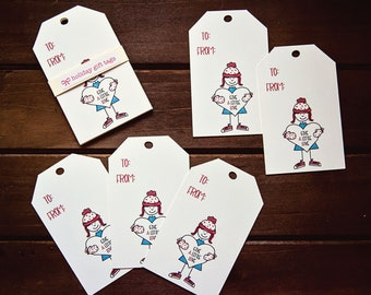 Holiday Gift Tags - Give a Little Love - Set of 5 | Christmas Gift Tags | Holiday Favour Tags | Christmas Favour Tags | Gift Tags