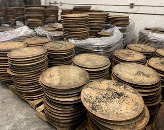 Bourbon Barrel Heads - Cheapest Shipping Rates! Raw whiskey barrel tops, lids. Please Read The Prodcut Description