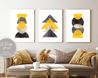 Yellow Wall Art Etsy