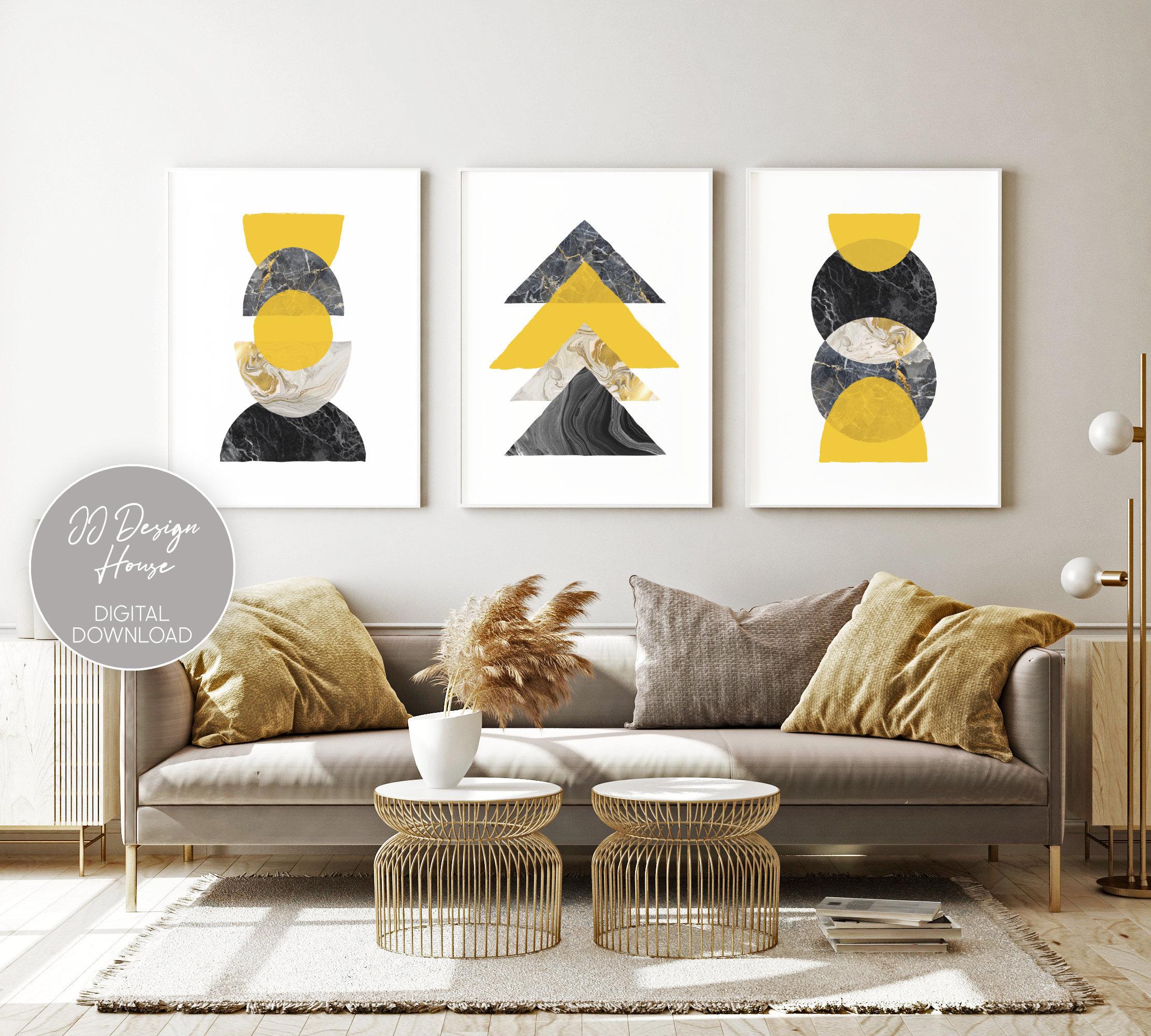 Yellow Chair Living Room Wall Art Living Room Wall Decor Fine Art Print Mary Julia Craft Shadows and Light