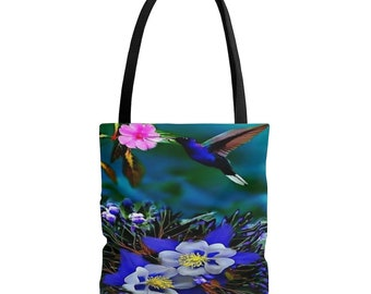 Ready To Ship Sassy Hummingbird Tote Boho Tote Bag Anna/'s Hummingbird Tote Yoga Tote 18X18 Tote Christmas Gift Idea Mother/'s Day Gift