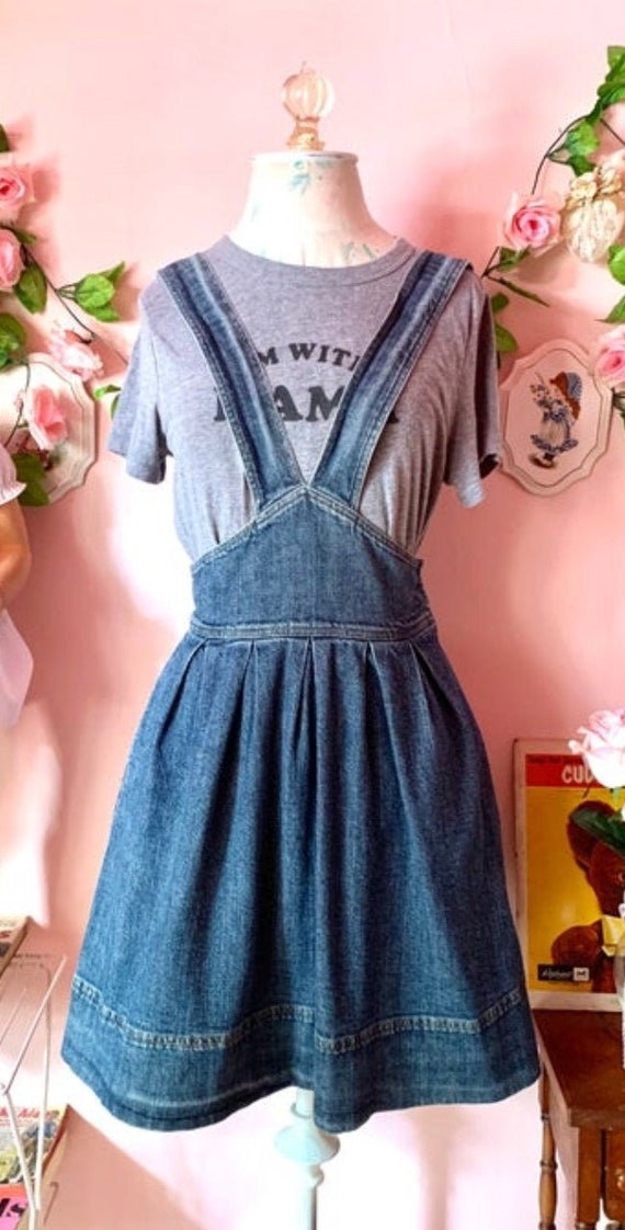 Betsey Johnson Denim Pinafore Dress