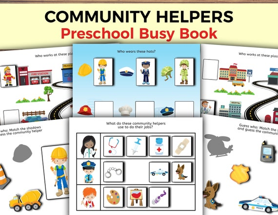 Community Helpers Busy Book for Toddlers