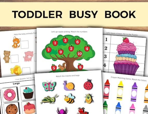 Toddler Busy Book Busy Book Printable Busy Book Toddler