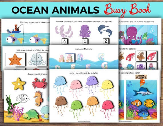 Ocean Animals Busy Book Busy Book Printable Printable Busy