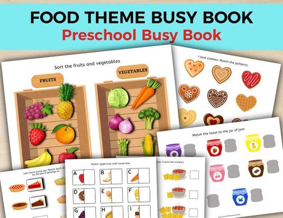 Food Theme Busy Book Busy Book Printable Printable Busy