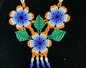 Huichol indigenous prayer necklace from Mexico