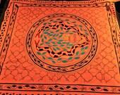 148cm x 153Large Shipibo woven cloth - Peruvian Shipibo Design