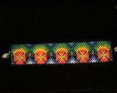 Peyote Huichol beaded bracelet