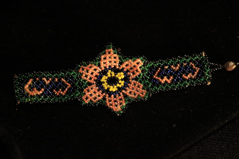 Indigenous beaded bracelet  Shipibo image 0